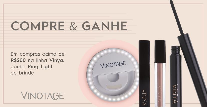 Banner Compre Vinya e ganhe Ring Light Mobile